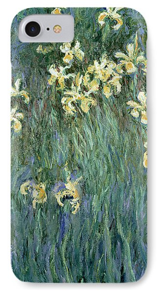 The Yellow Irises IPhone 7 Case by Claude Monet