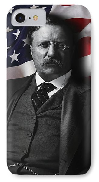 Theodore Roosevelt 26th President Of The United States IPhone Case by Daniel Hagerman