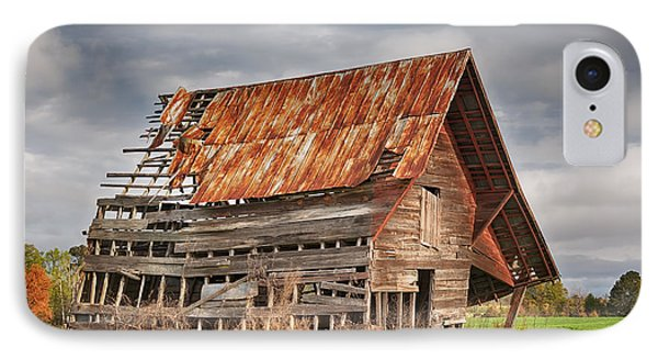 There Was A Crooked Barn IPhone Case by Kim Hojnacki
