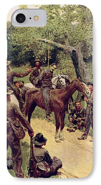 They Talked It Over With Me Sitting On The Horse Phone Case by Howard Pyle