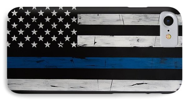 Thin Blue Line IPhone Case by Dominoe Gregor