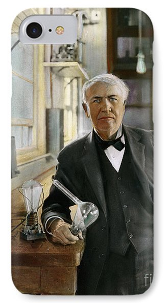 Thomas Edison IPhone Case by Granger