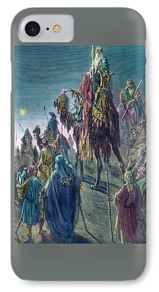 Three Kings  Christmas Card IPhone Case by Gustave Dore