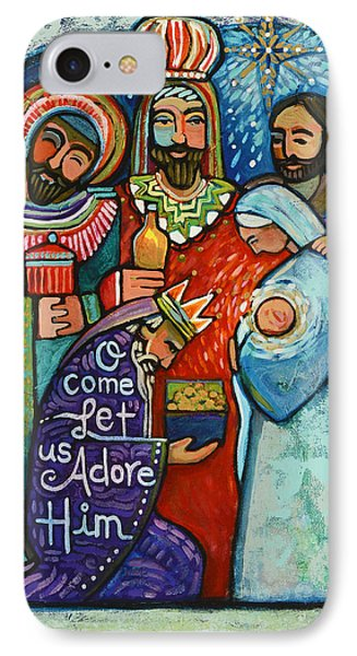 Three Kings O Come Let Us Adore Him IPhone Case by Jen Norton