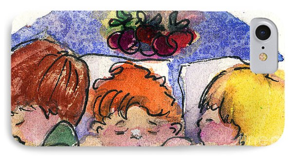 Three Sugar Plum Dreamers IPhone Case by Mindy Newman