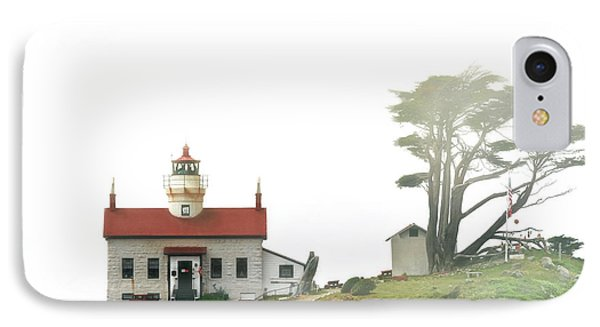 Tides Of Battery Point Lighthouse - Northern Ca IPhone Case by Christine Till