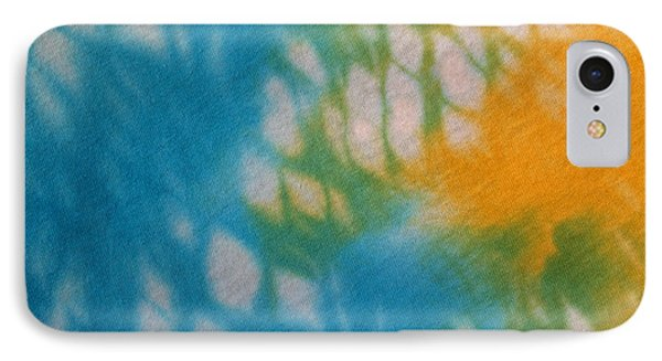 Tie Dye In Yellow Aqua And Green Phone Case by Anna Lisa Yoder