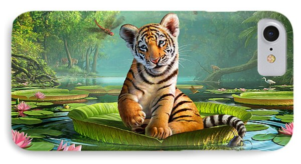 Tiger Lily IPhone 7 Case by Jerry LoFaro