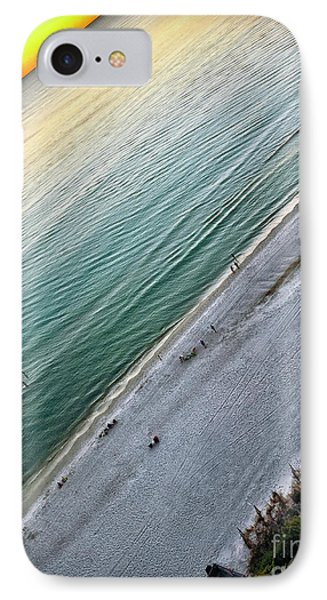 Tilted Rule Of Thirds Beach Sunset IPhone Case by Walt Foegelle