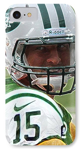 Tim Tebow Art Deco - New York Jets -  IPhone Case by Lee Dos Santos