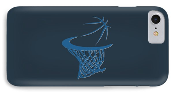 Timberwolves Basketball Hoop IPhone Case by Joe Hamilton