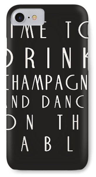 Time To Drink Champagne Phone Case by Georgia Fowler