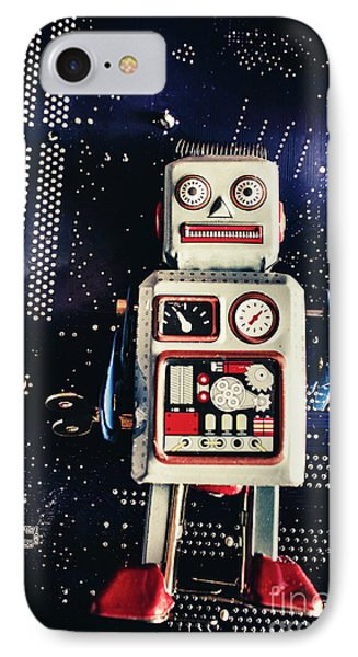 Tin Toy Robots IPhone Case by Jorgo Photography - Wall Art Gallery