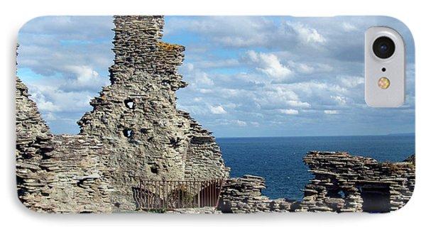 Tintagel Castle 1 Phone Case by Kurt Van Wagner