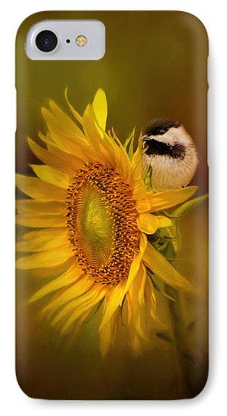 Tiny Surprise Bird Art IPhone Case by Jai Johnson