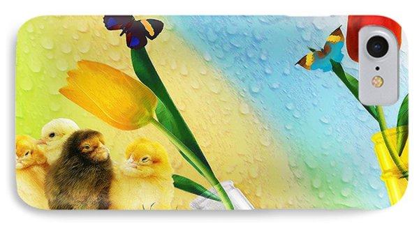 Tiptoe Through The Tulips Phone Case by Liane Wright