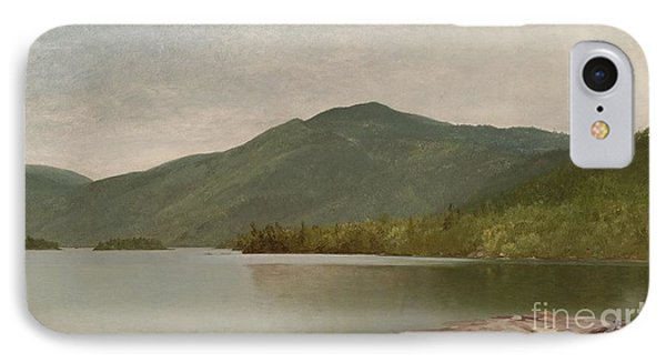 Title Mountain And Lake IPhone Case by MotionAge Designs
