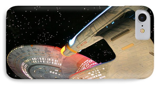 To Boldly Go IPhone Case by Kristin Elmquist
