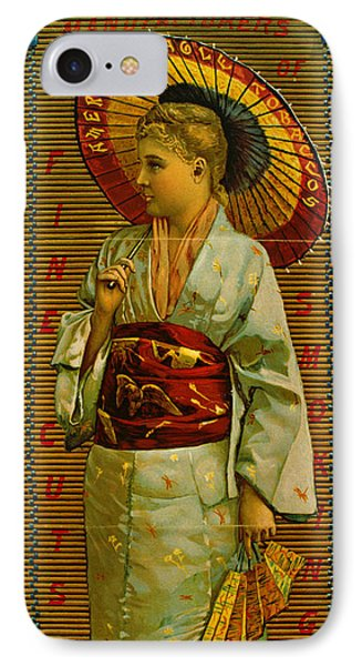 Tobacco Ad 1884 IPhone Case by Padre Art