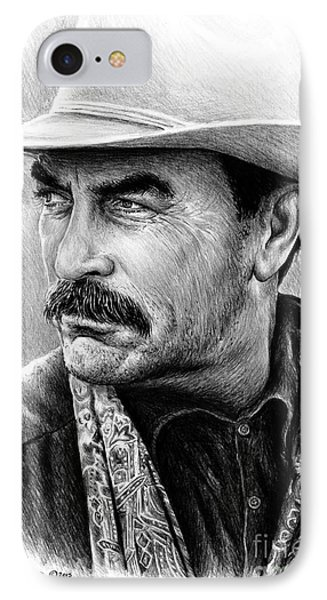 Tom Selleck IPhone Case by Andrew Read
