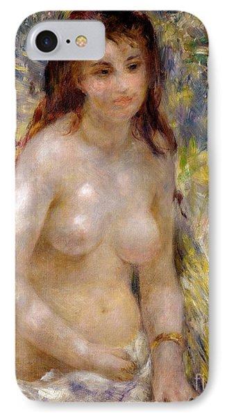 Torso Effect Of Sunlight Phone Case by Pierre Auguste Renoir