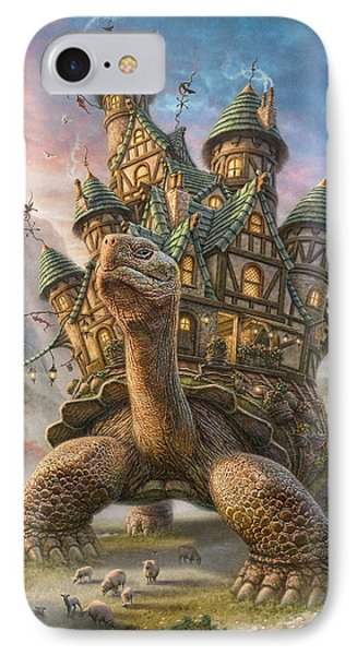 Tortoise House IPhone Case by Phil Jaeger