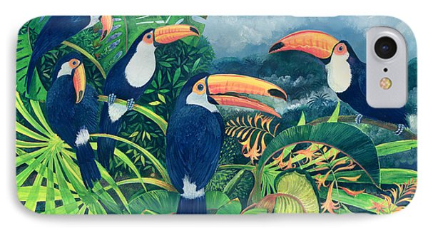 Toucan Talk IPhone Case by Lisa Graa Jensen