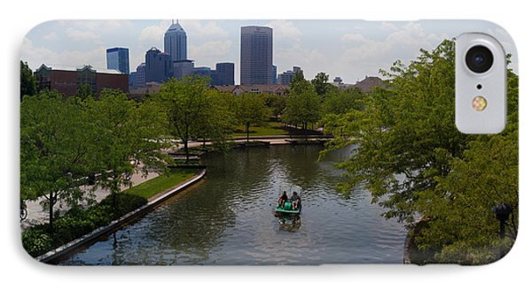 Tourists On Paddleboat In A Lake IPhone Case by Panoramic Images