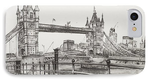 Tower Bridge IPhone Case by Vincent Alexander Booth