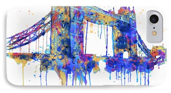 Tower Bridge Watercolor IPhone Case by Marian Voicu