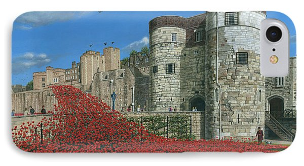 Tower Of London Poppies - Blood Swept Lands And Seas Of Red  IPhone Case by Richard Harpum