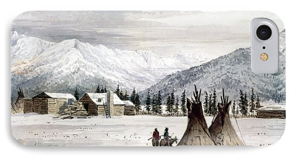 Trading Outpost, C1860 Phone Case by Granger