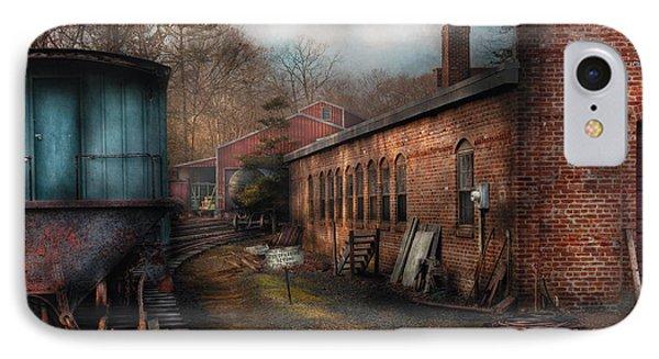 Train - Yard - The Train Yard Phone Case by Mike Savad