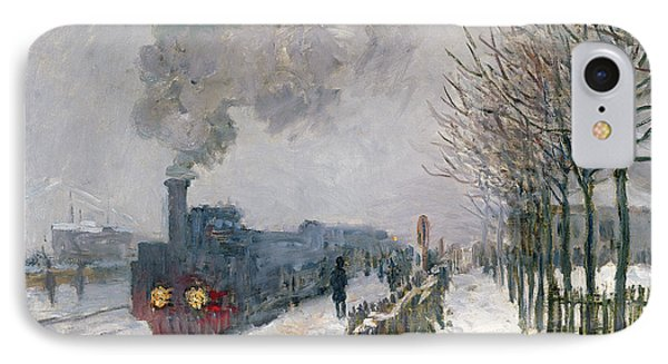 Train In The Snow Or The Locomotive IPhone Case by Claude Monet