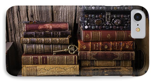Treasure Box On Old Books IPhone 7 Case by Garry Gay