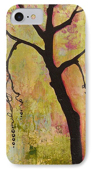 Tree Print Triptych Section 1 Phone Case by Blenda Studio
