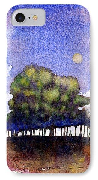 Trees At Moon Rise Phone Case by John D Benson