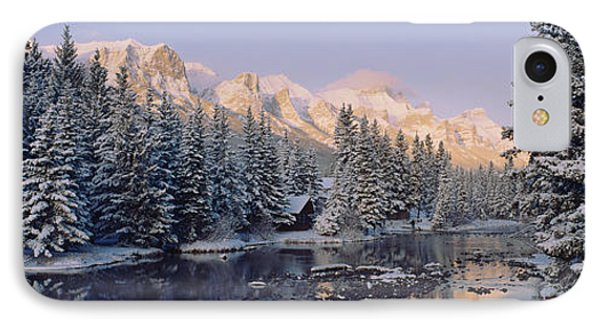 Trees Covered With Snow, Policemans IPhone Case by Panoramic Images