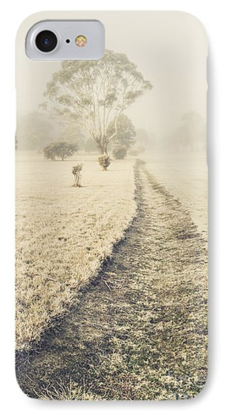 Trees In Fog And Mist IPhone Case by Jorgo Photography - Wall Art Gallery