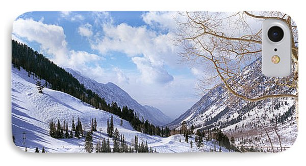 Trees In Snow, Snowbird Ski Resort IPhone Case by Panoramic Images