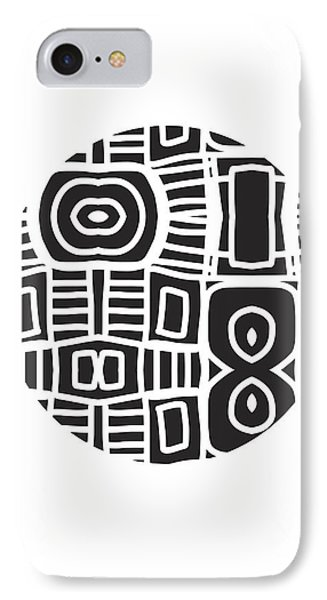 Tribal Ball- Art By Linda Woods IPhone Case by Linda Woods