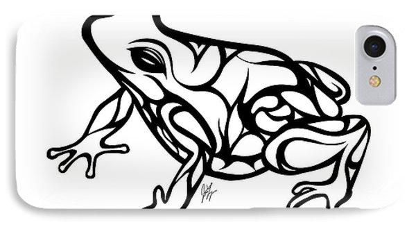 Tribal Ribbet  IPhone 7 Case by Jamie Lynn