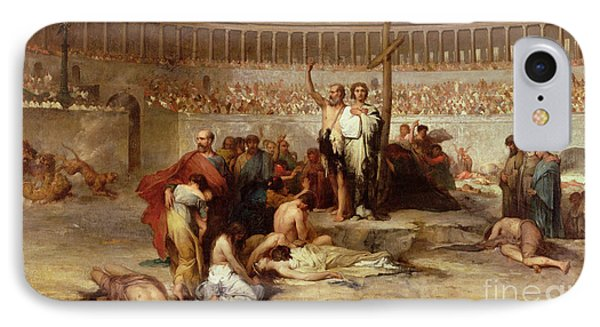 Triumph Of Faith    Christian Martyrs In The Time Of Nero IPhone Case by Eugene Romain Thirion