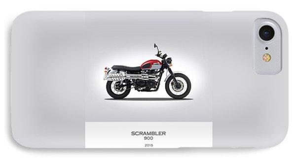 Triumph Scrambler 2015 IPhone 7 Case by Mark Rogan