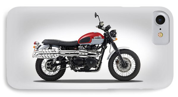 Triumph Scrambler 2015 IPhone Case by Mark Rogan