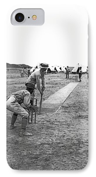 Troops Playing Cricket IPhone 7 Case by Underwood Archives