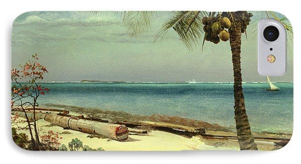 Tropical Coast IPhone Case by Albert Bierstadt