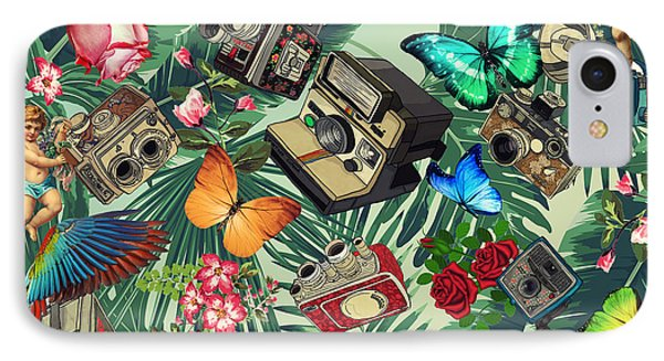 Tropical Fun Vintage  IPhone Case by Mark Ashkenazi