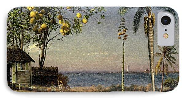 Tropical Scene IPhone Case by Albert Bierstadt