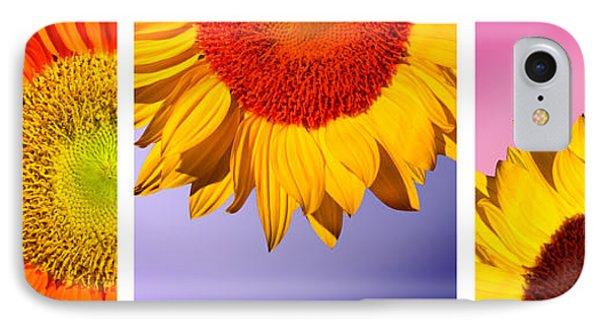 Tropical  Sunflowers IPhone Case by Mark Ashkenazi
